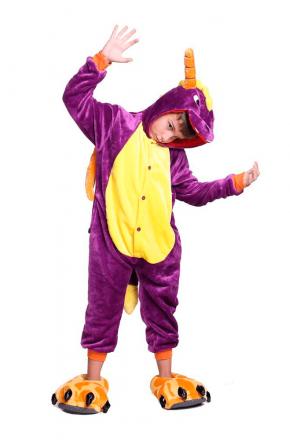 Кигуруми детский Дракон фиолетовый