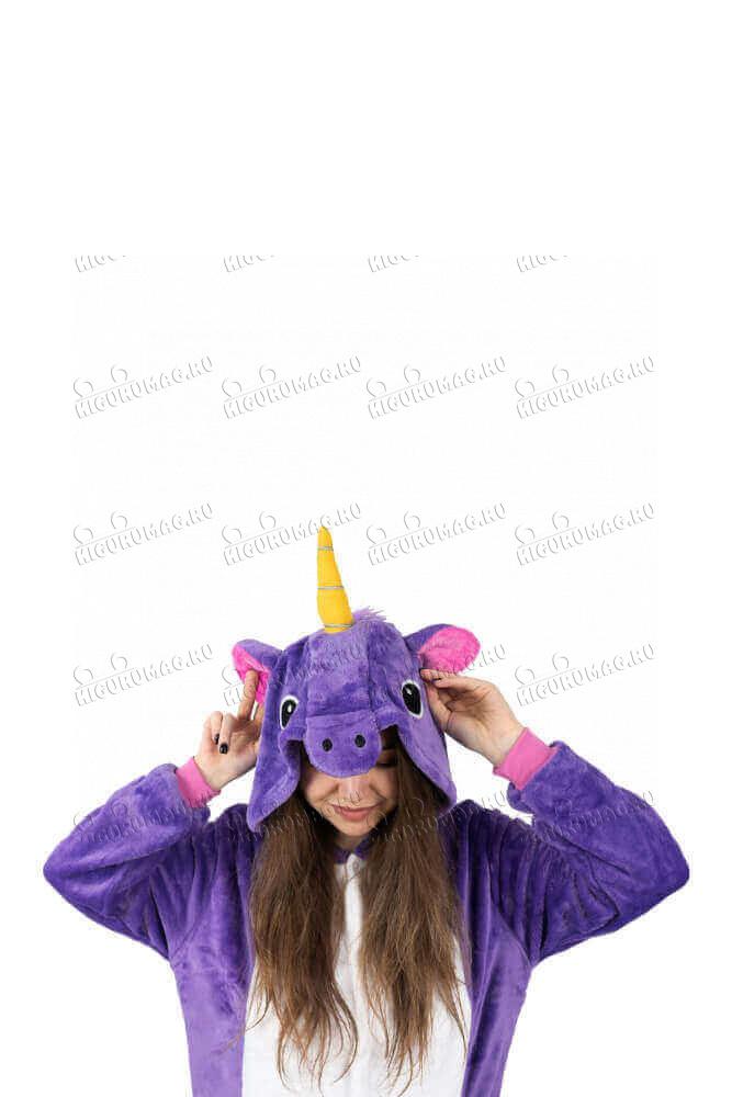 Кигуруми Единорог Фиолетовый - 7