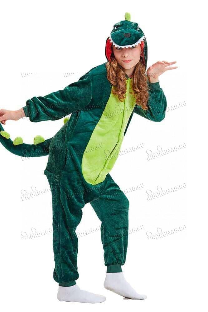 Кигуруми Зеленый динозавр - 2