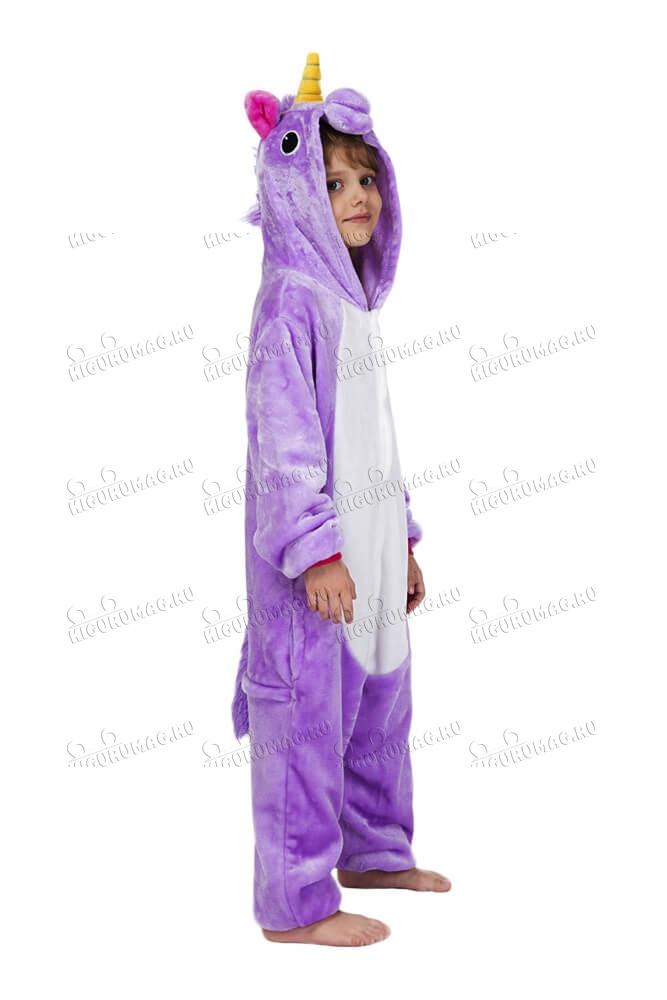 Кигуруми детский Единорог Фиолетовый - 5