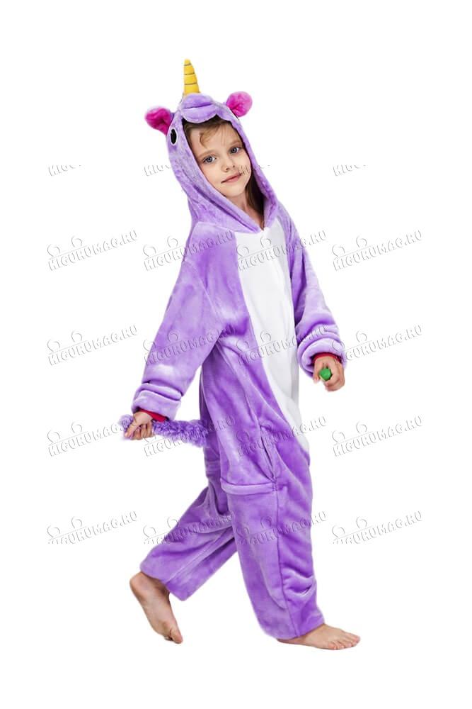 Кигуруми детский Единорог Фиолетовый - 6