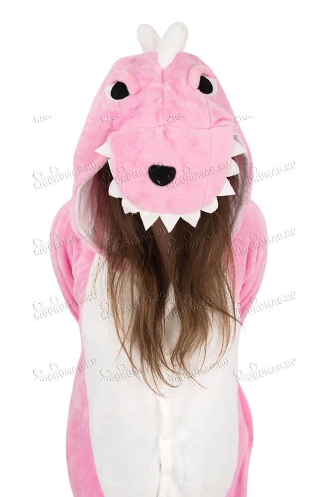 Кигуруми Динозаврик розовый - 7